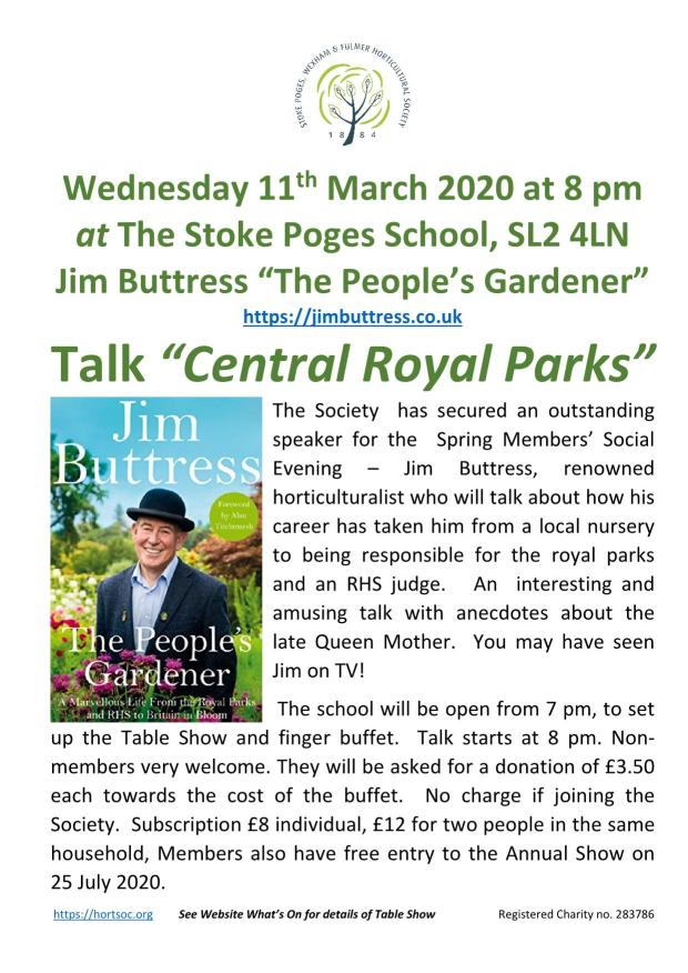 2020 - Jim Buttress - 11 March Poster V3_1